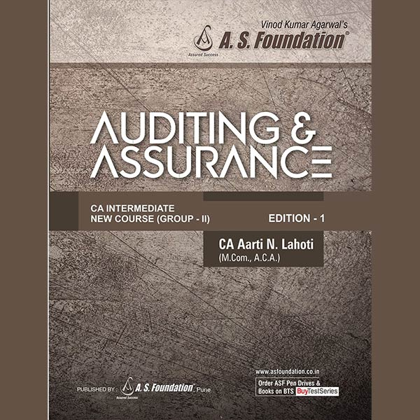 CA Inter Audit & Assurance MCQ Book By CA Aarti Lahoti
