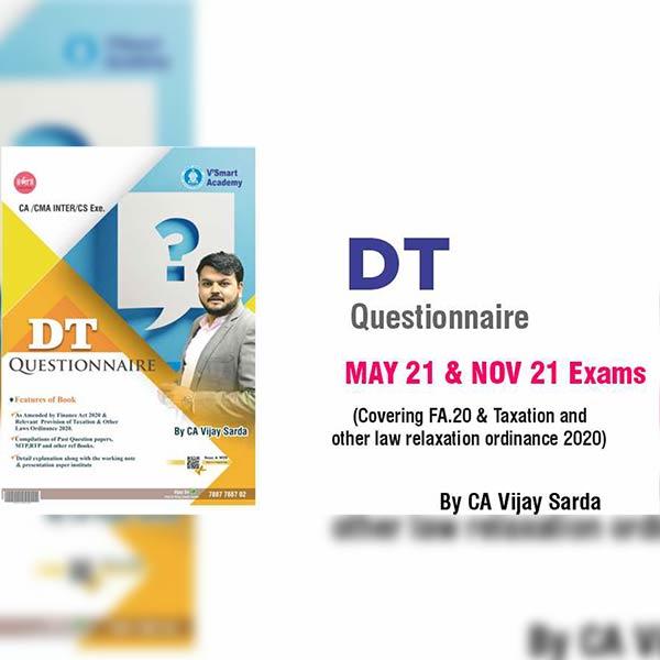 CA Inter DT Questionnaire By CA CS Vijay Sarda