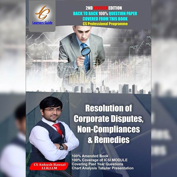 CS Professional Res. of Corp. Disputes, Non Compl. & Remedies By CS Ankush Bansal