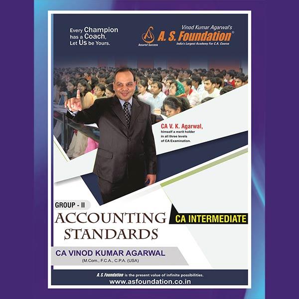 CA Inter Accounting Standard Group II Book By CA Vinod k Agarwal