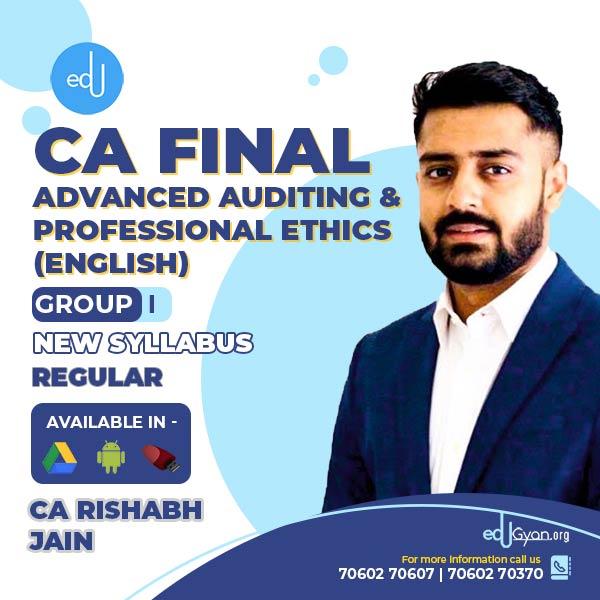 CA Final Advanced Auditing & PE By CA Rishabh Jain (English)