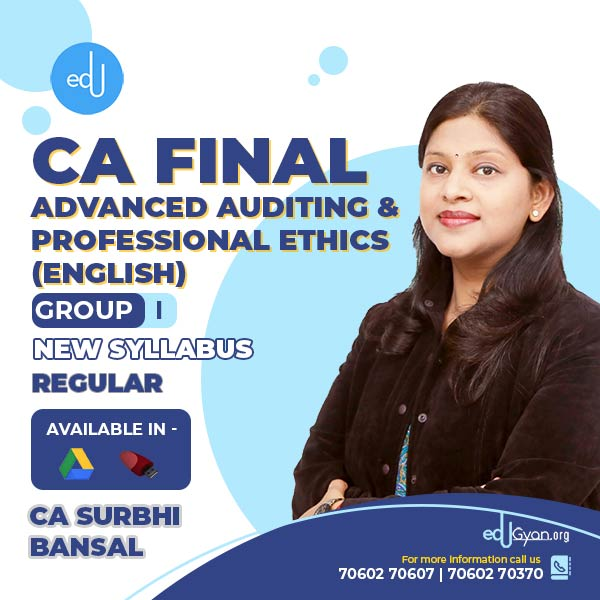 CA Final Advanced Auditing & PE By CA Surbhi Bansal (English)