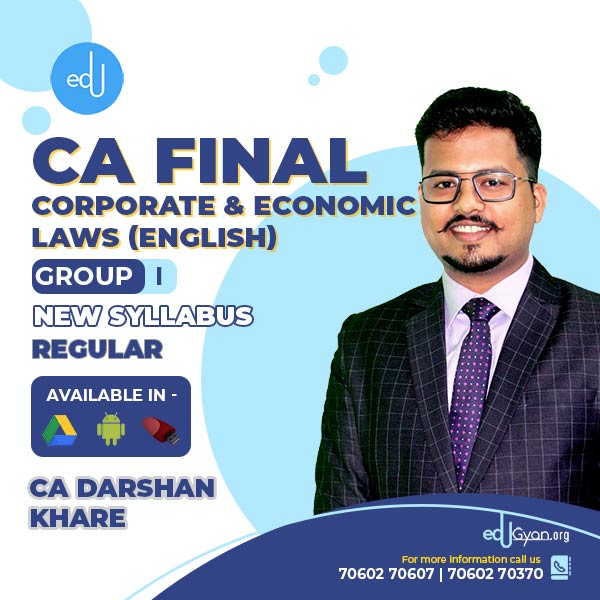 CA Final Corporate & Economic Laws By CA Darshan Khare (English)