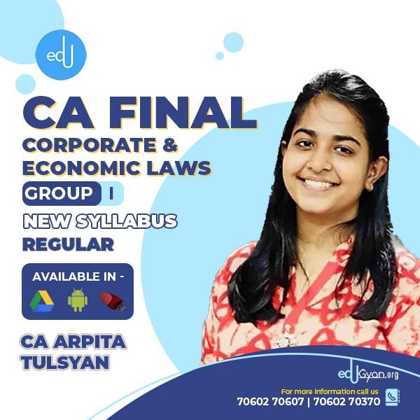CA Final Corporate & Economic Laws By CA Arpita Tulsyan