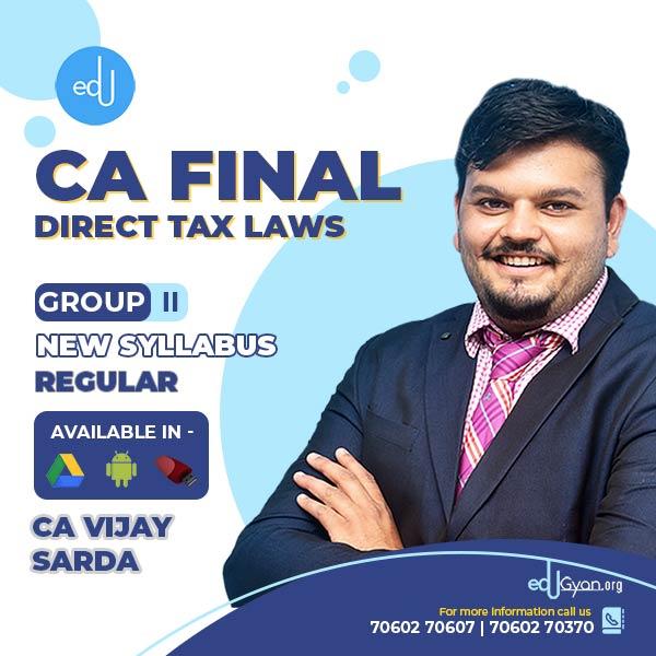 CA Final Direct Tax Laws (DT) By CA Vijay Sarda (Nov 2021 & May 2022))