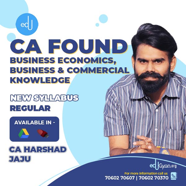 CA Foundation Business Economics By CA Harshad Jaju