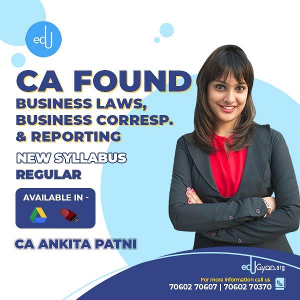 CA Foundation Business Laws & BCR By CA Ankita Patni