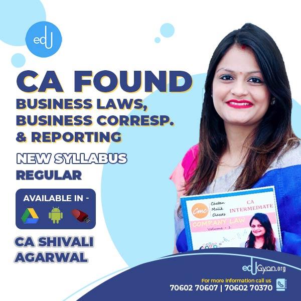 CA Foundation Business Laws & BCR By CA Shivali Agarwal