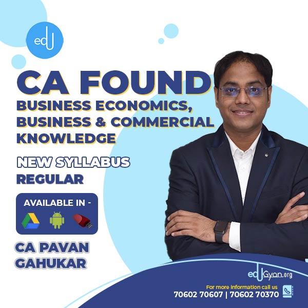 CA Foundation Economics By CA Pavan Gahukar