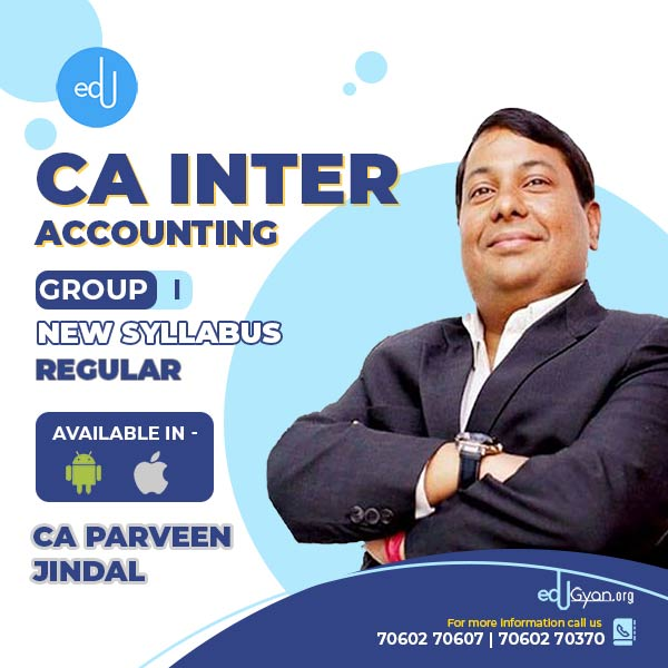 CA Inter Accounting By CA Parveen Jindal (Mobile App)