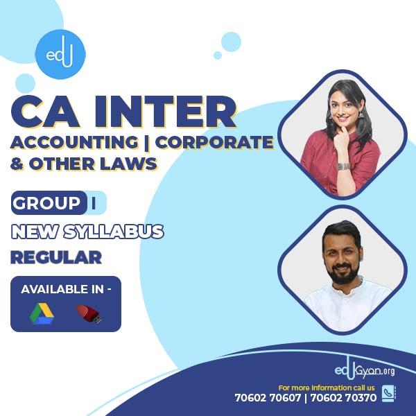 CA Inter Accounting & Corp. & Other Laws Combo By CA Anand Bhangariya & Ankita Patni