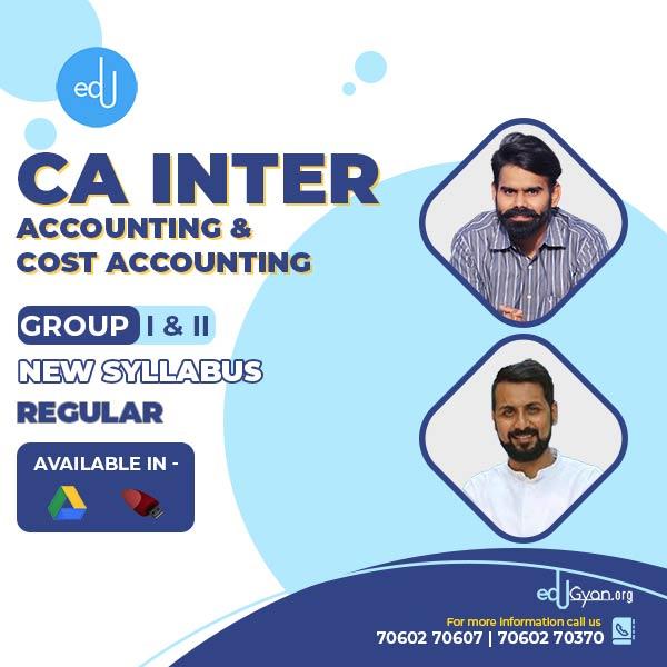 CA Inter Accounting & Costing Combo By CA Anand Bhangariya & Harshad Jaju