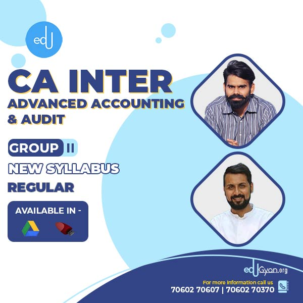 CA Inter Advance Accounting & Audit Combo By CA Anand Bhangariya & Harshad Jaju