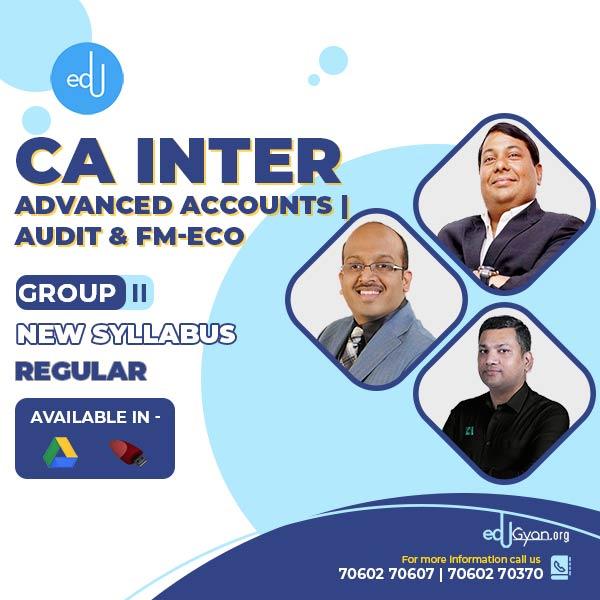 CA Inter Advance Accounts & FM-Eco & Audit Combo By CA Parveen Jindal & Sanjay Saraf & Pankaj Garg