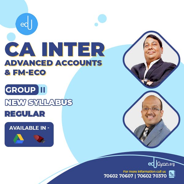 CA Inter Advance Accounts & FM-Eco Combo By CA Parveen Jindal & Sanjay Saraf