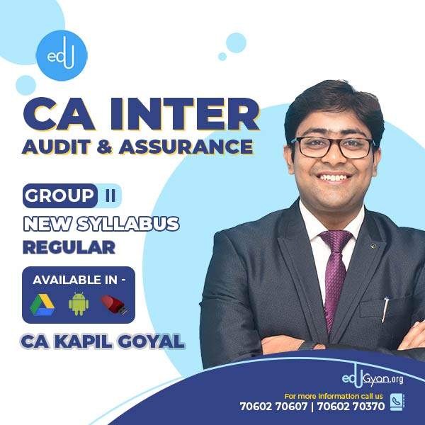 CA Inter Audit & Assurance By CA Kapil Goyal