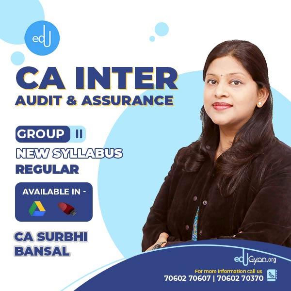 CA Inter Audit & Assurance By CA Surbhi Bansal
