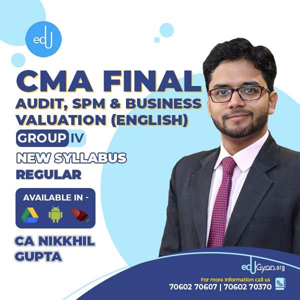CMA Final Audit & SPM & Business Valuation Combo By CA Nikkhil Gupta (English)