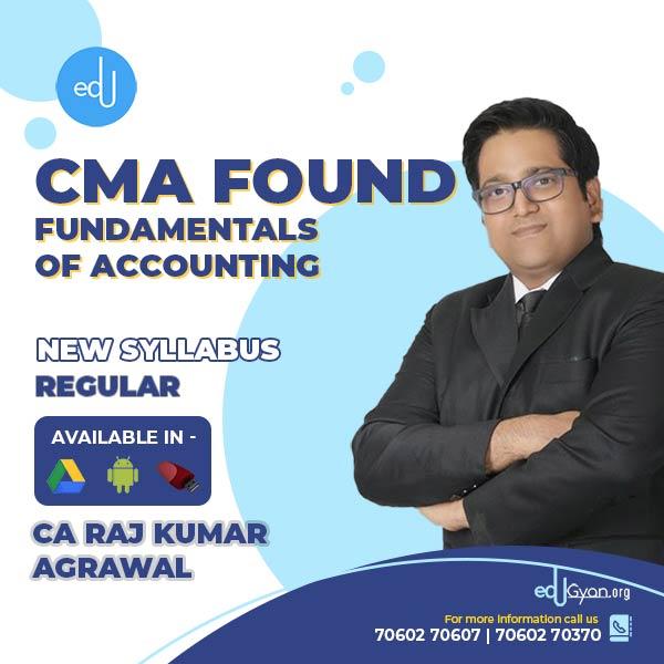 CMA Foundation Fund. of Accounting By CA Raj K Agrawal