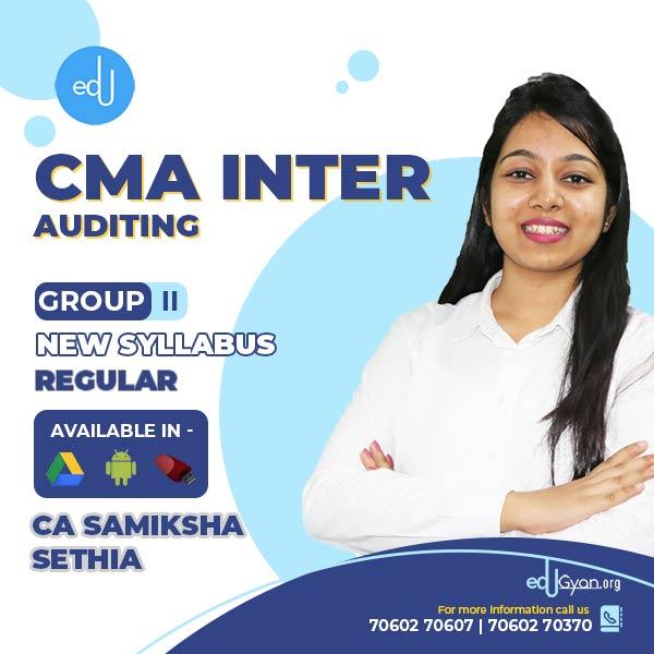 CMA Inter Auditing By CA Samiksha Sethia