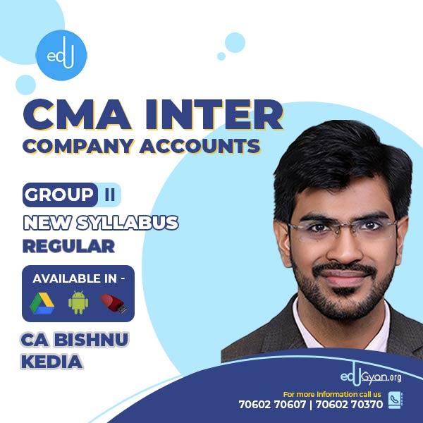 CMA Inter Company Accounts By CA Bishnu kedia