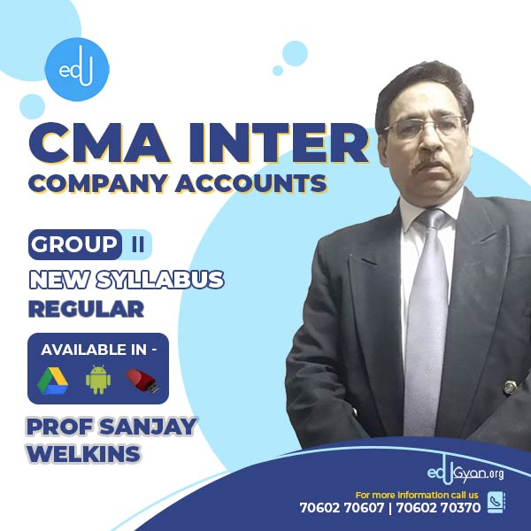 CMA Inter Company Accounts By Prof. Sanjay Welkins
