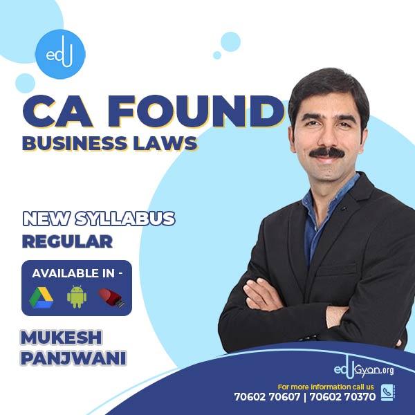 CA Foundation Business Laws By Mukesh Panjwani