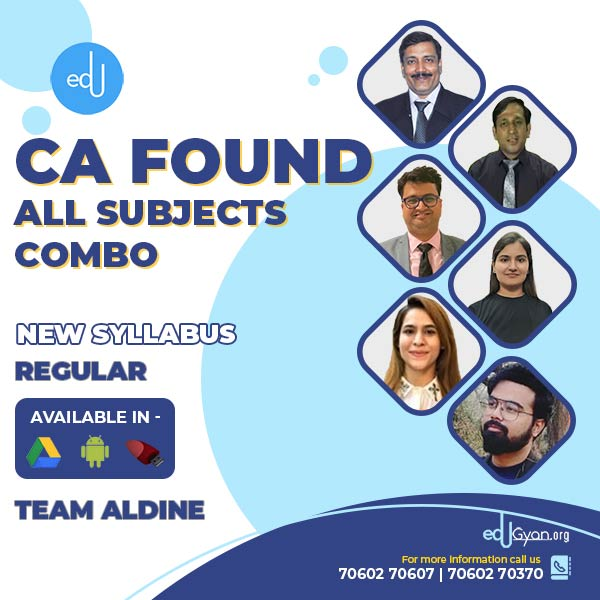 CA Foundation All Subjects Combo By Aldine