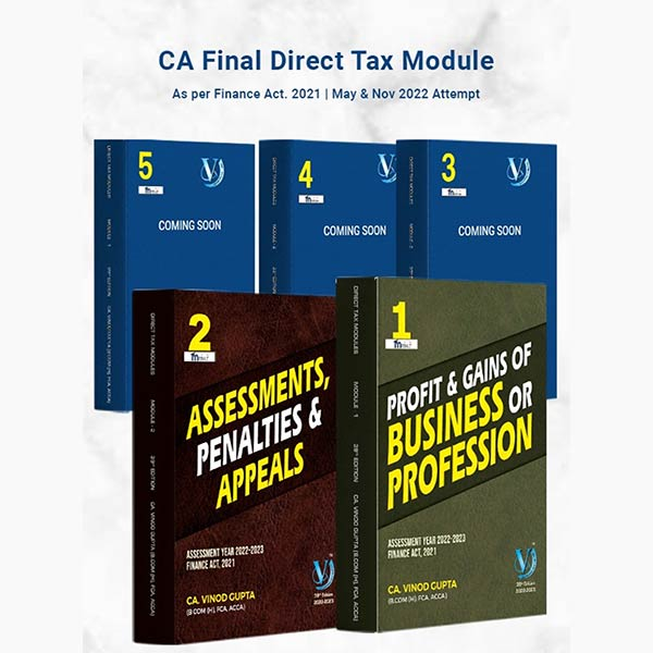 CA Final Direct Tax Books By Vinod Gupta ( For May & Nov 2022)
