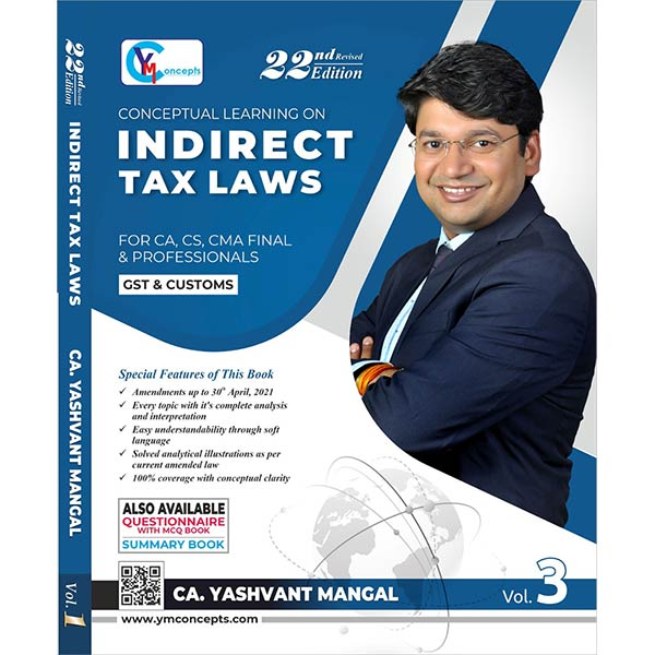 CA FINAL IDT (GST+Customs) Main Book (Set of 3) By CA Yashvant Mangal