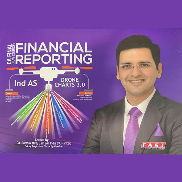 CA Final FR Ind AS Drone Charts Book 3.0 by CA Sarthak Jain (2021 Edition)