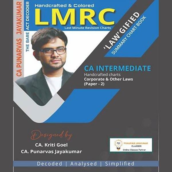 CA Inter Corporate & Other Laws Summary Chart Book By CA Punarvas Jayakumar