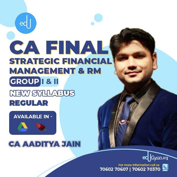 CA Final SFM & RM With Free Stock Market Fundamental By CA Aaditya Jain