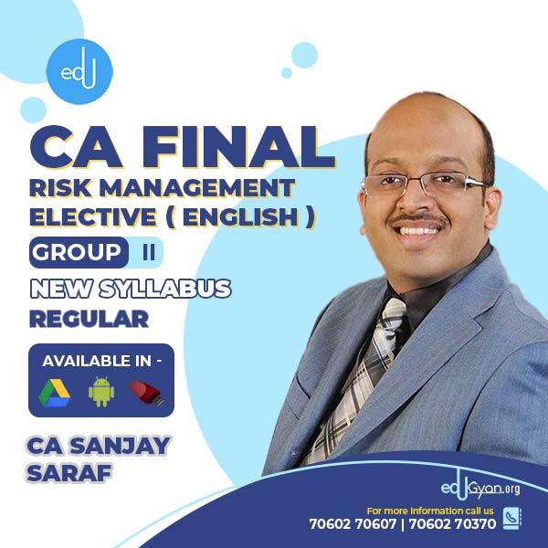 CA Final Risk Management Elective (RM) By CFA Sanjay Saraf (English)