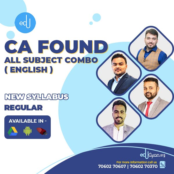 CA Foundation All Subject Combo By CA Chiranjeev (English)