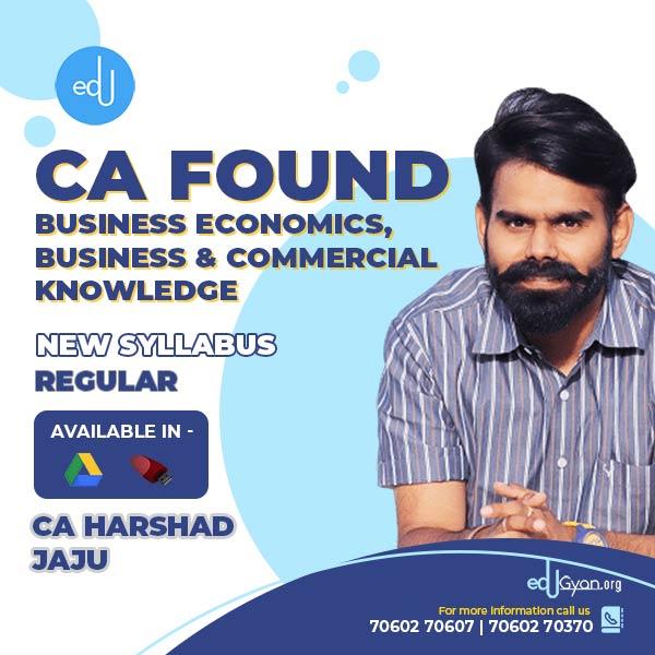 CA Foundation Business Economics Fast Track By CA Harshad Jaju