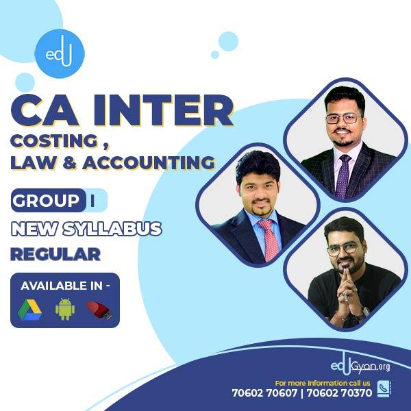 CA Inter Account & Cost & Law Regular Combo By CA Sankalp Kanstiya & CMA Rohan Nimbalkar & Darshan Khare
