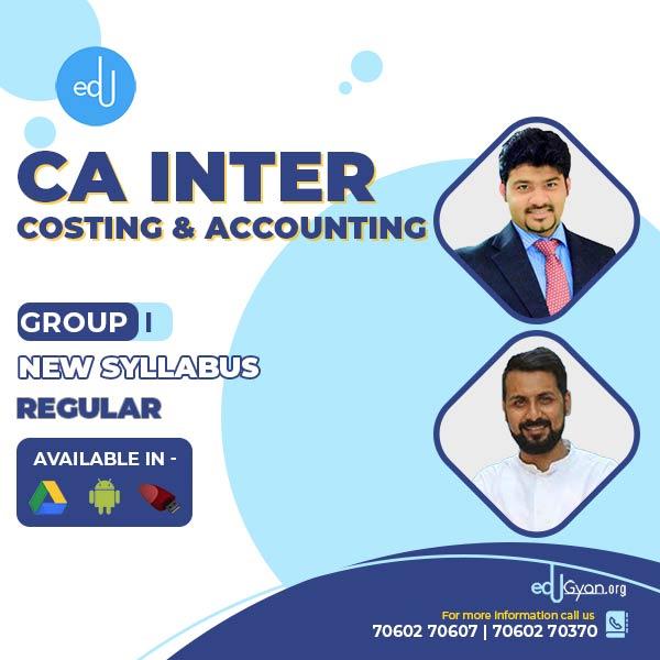 CA Inter Account & Cost Regular Combo By CA Sankalp Kanstiya & Anand Bhangariya