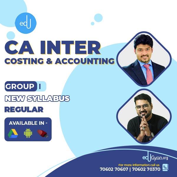 CA Inter Account & Cost Regular Combo By CA Sankalp Kanstiya & CMA Rohan Nimbalkar