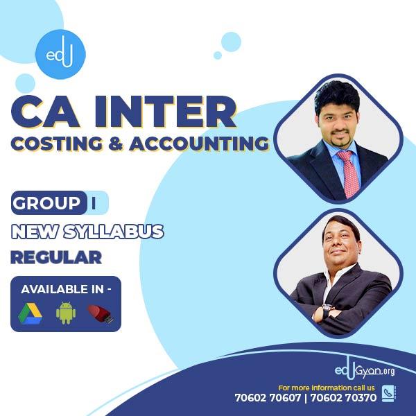 CA Inter Account & Cost Regular Combo By CA Sankalp Kanstiya & Parveen Jindal
