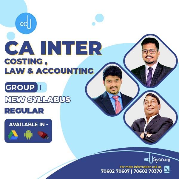 CA Inter Account & Law & Costing Regular Combo By CA Darshan Khare & Parveen Jindal & Sankalp kanstiya
