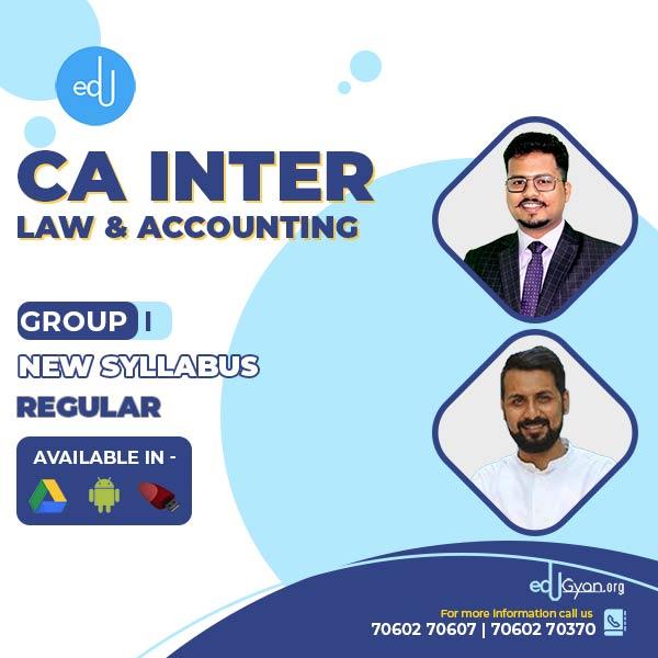 CA Inter Account & Law Regular Combo By CA Darshan Khare & Anand Bhangariya