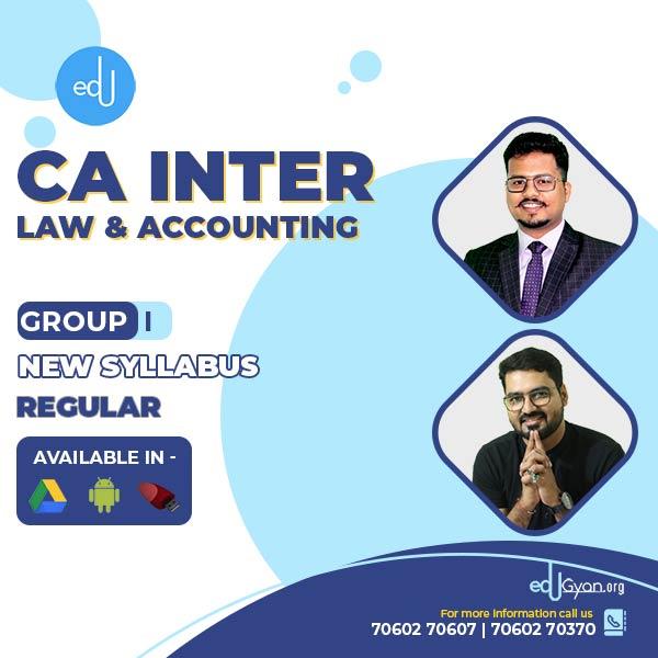 CA Inter Account & Law Regular Combo By CA Darshan Khare & CMA Rohan Nimbalkar