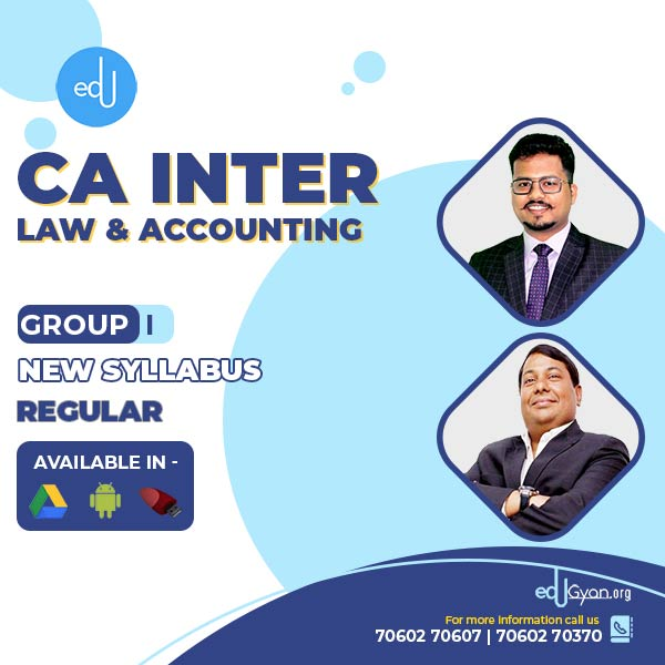 CA Inter Account & Law Regular Combo By CA Darshan Khare & Parveen Jindal