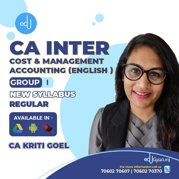 CA Inter Cost & Management Accounting By CA Kriti Goel (English)