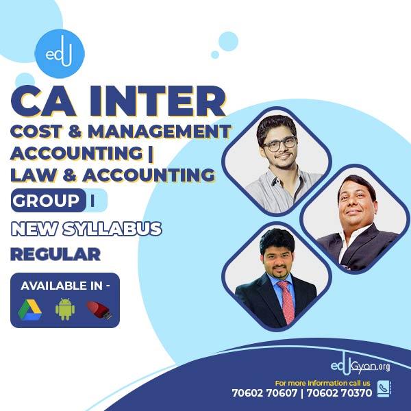 CA Inter Law & Accounts & CMA Combo By CA Parveen Jindal & Abhishek Bansal & Sankalp Kanstiya