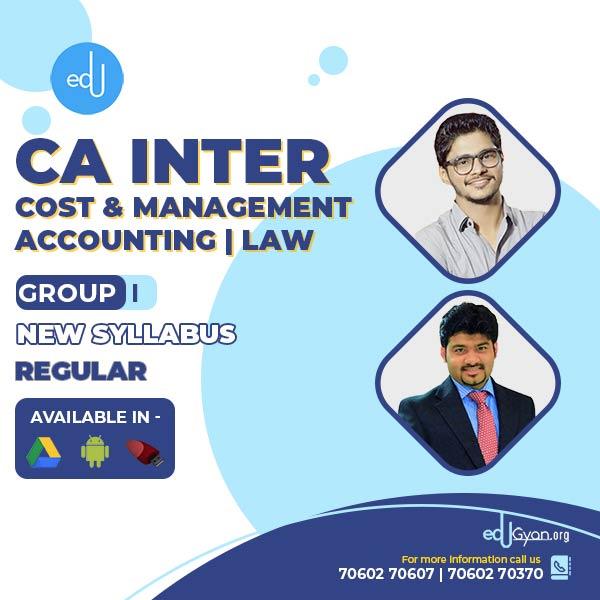 CA Inter Law & CMA Combo By CA Abhishek Bansal & Sankalp Kanstiya