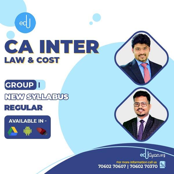 CA Inter Law & Cost Regular Combo By CA Sankalp Kanstiya & Darshan Khare