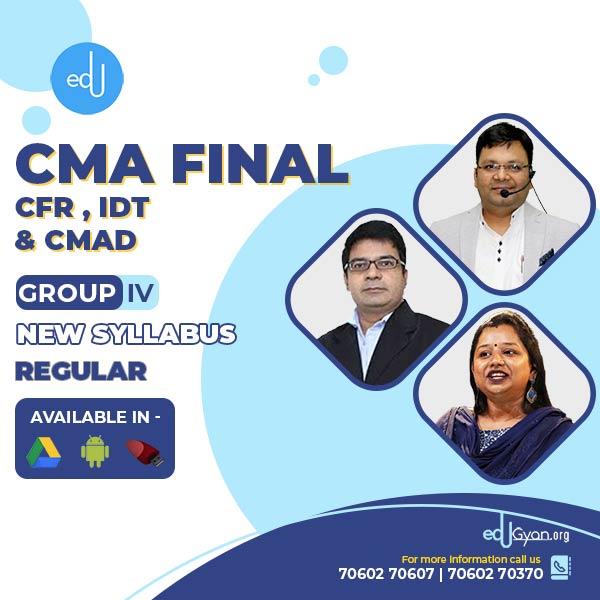 CMA Final CFR+IDT+CMAD Combo By CA Santosh Kumar & Priyanka Saxena & Satish Jalan