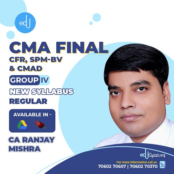 CMA Final Corporate Financial Reporting By CA Ranjay Mishra
